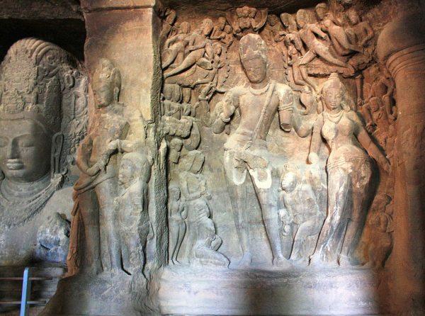 Elephanta_Caves_Gangadhara